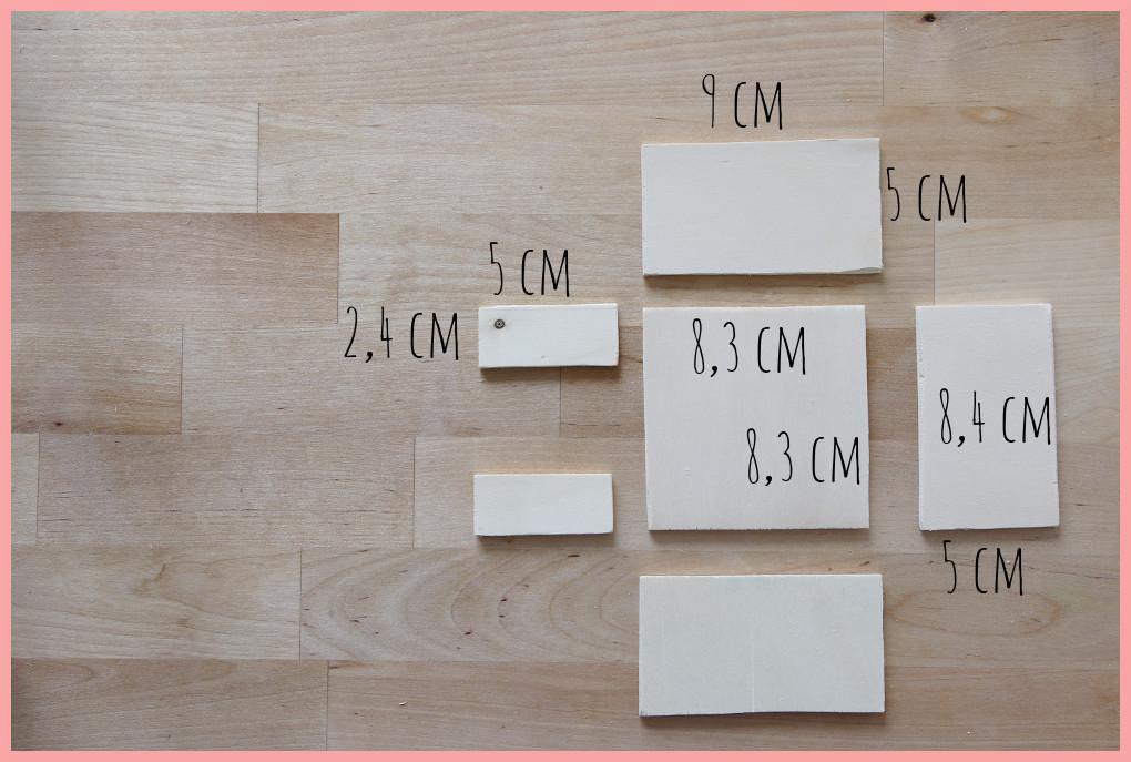 Schreibtischtisch DIYs mit Wiener Geflecht - Maße Zettelhalter