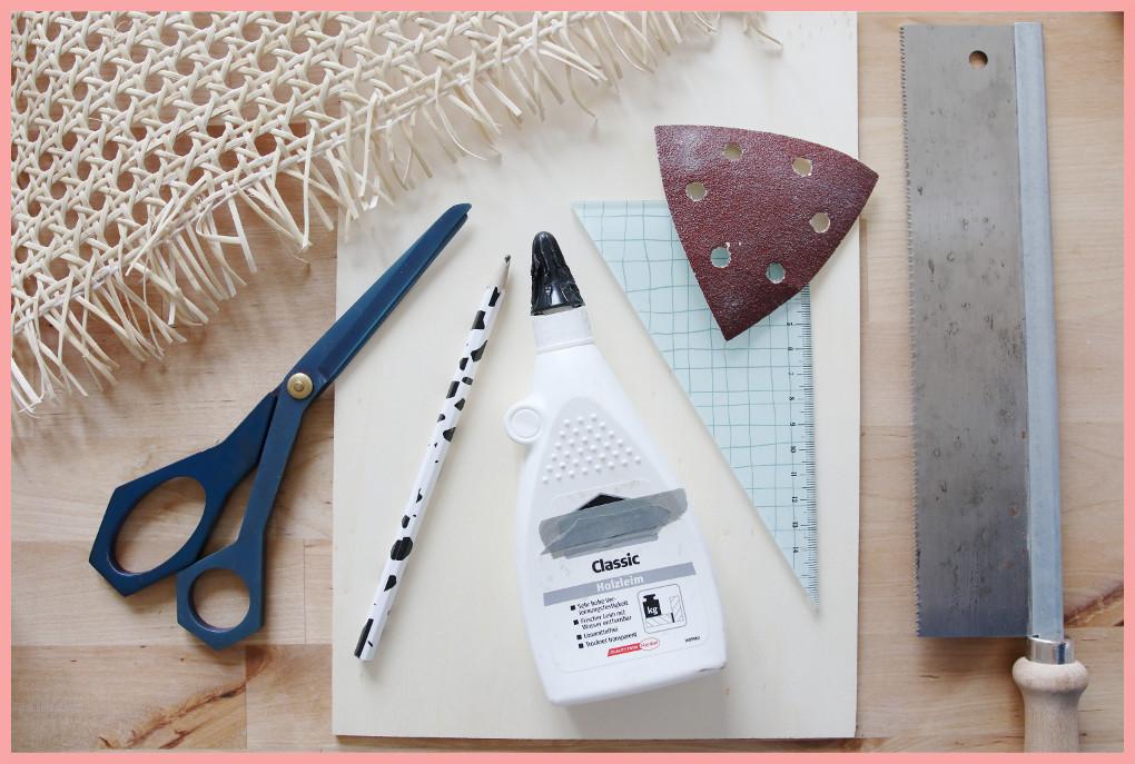 Schreibtischtisch DIYs mit Wiener Geflecht - Material