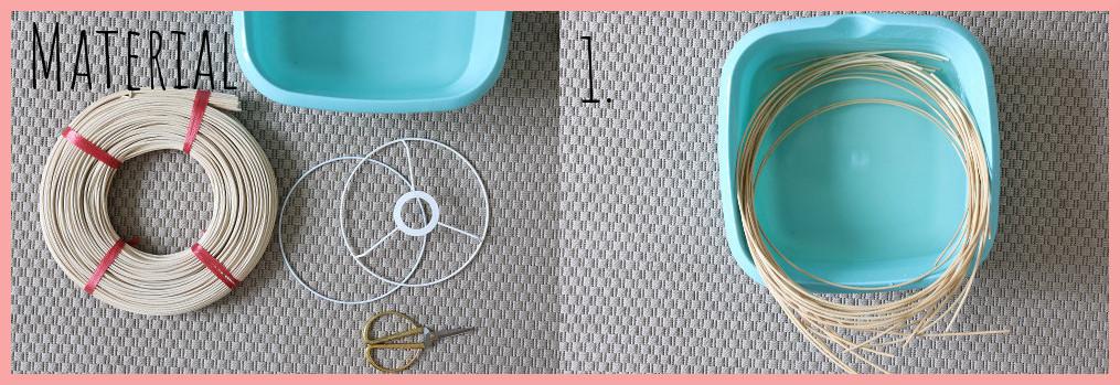 Lampe selber machen - Korblampe flechten - Material und Schritt 1