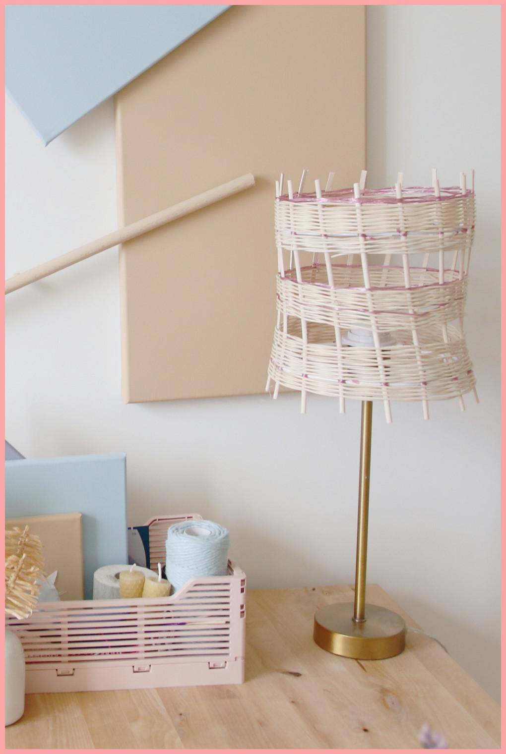 Lampe selber machen - Korblampe flechten - Version 2