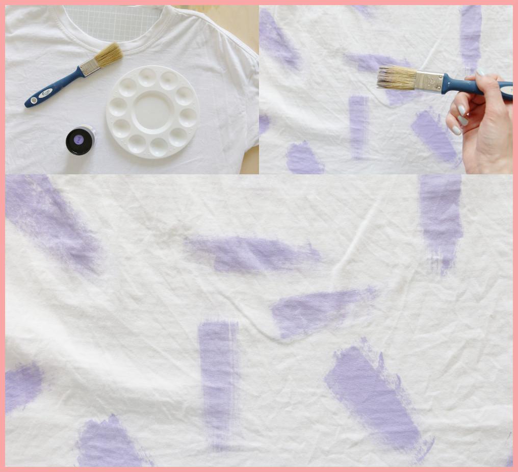 T-Shirt selber gestalten - Anleitung für Streifenmuster