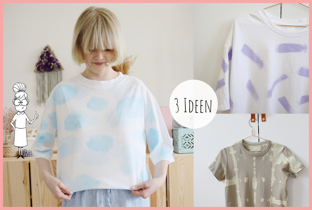 T-Shirt selber gestalten - 3 Ideen