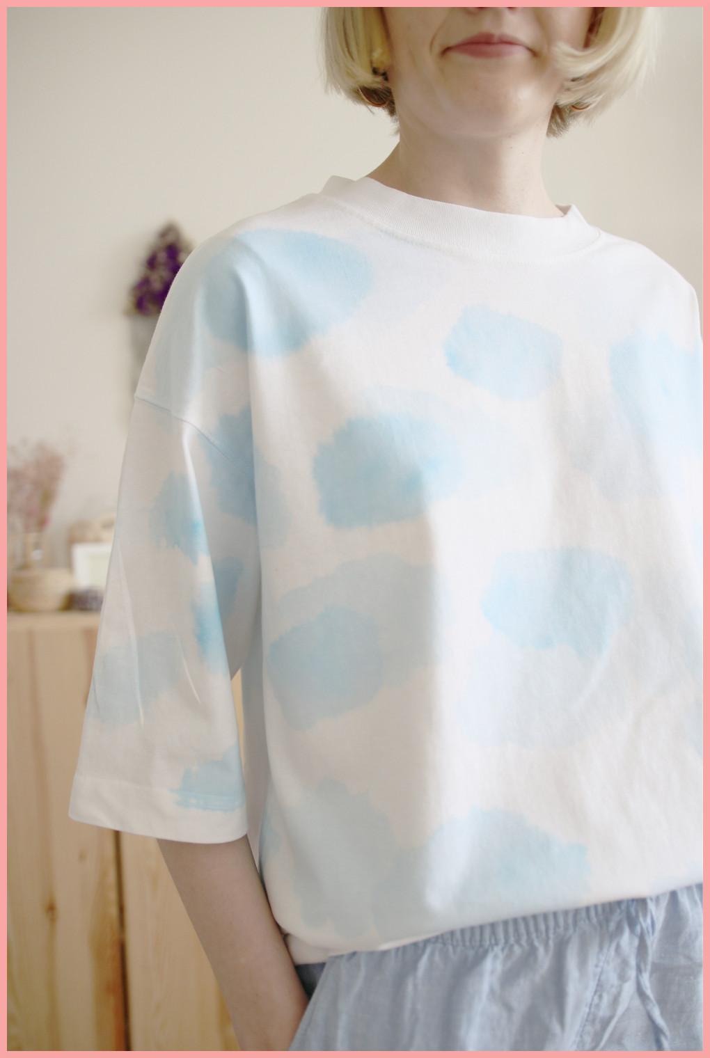 T-Shirt selber gestalten - Ergebnis Wolkenmuster