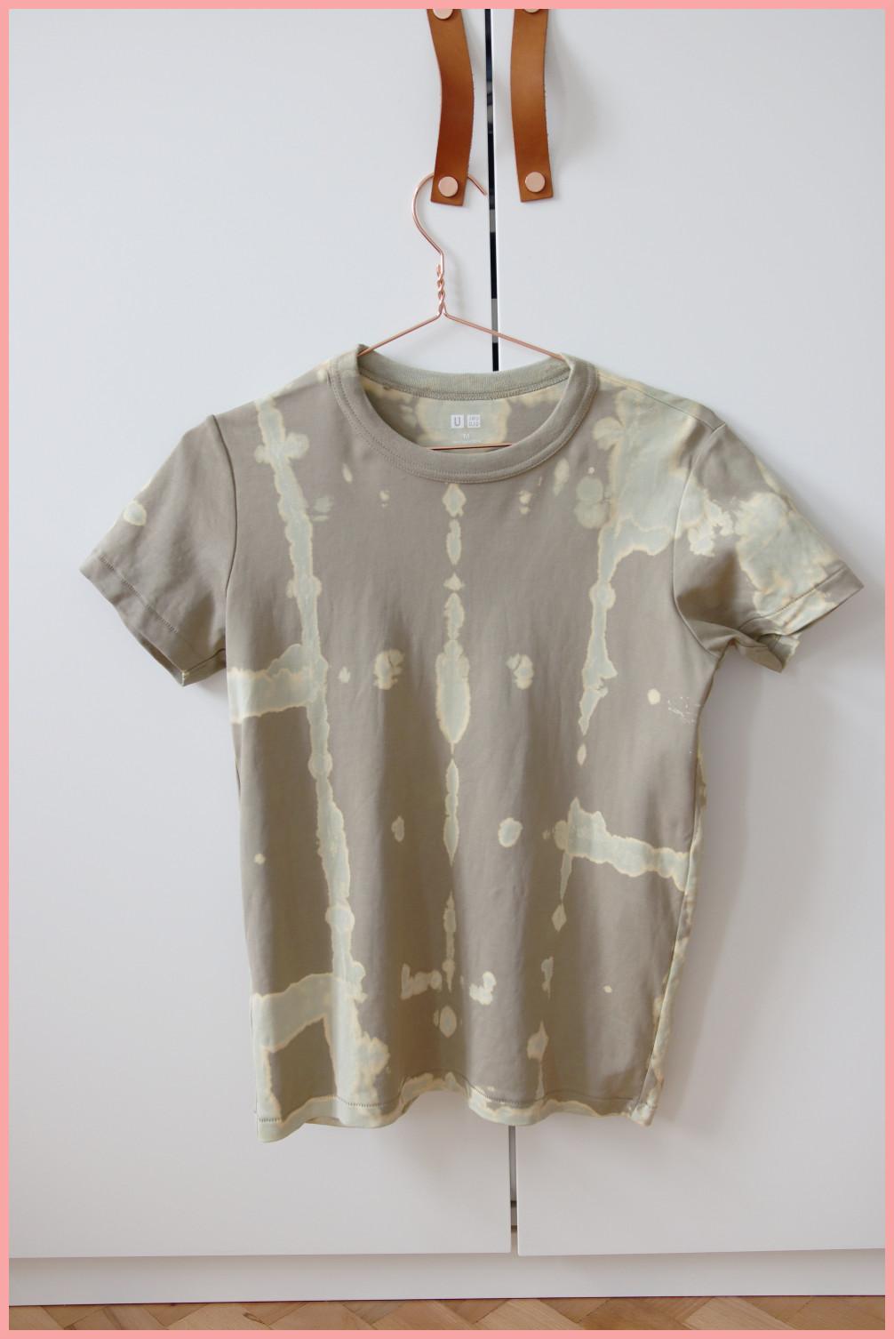 T-Shirt selber gestalten - Ergebnis bleichen