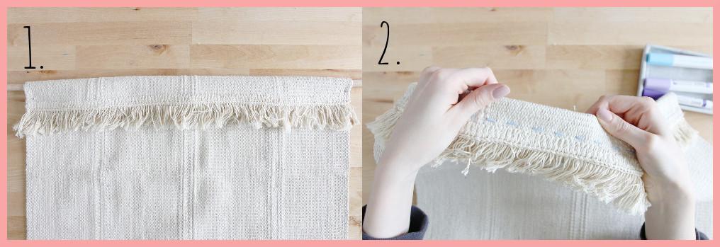 Wandteppich selbst gestalten mit geometrischen Mustern - Schritt 1-2