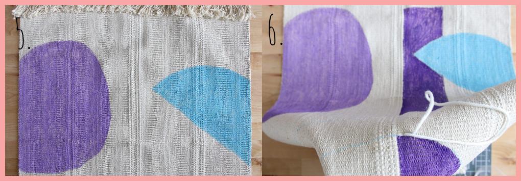 Wandteppich selbst gestalten mit geometrischen Mustern - Schritt 5-6