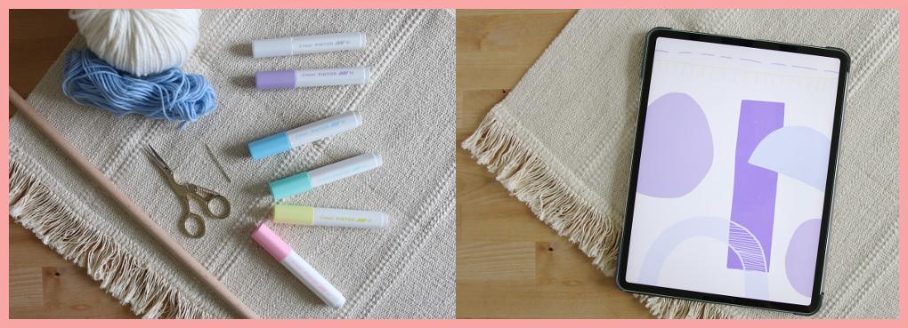 Wandteppich selbst gestalten mit geometrischen Mustern - Vorbereitung