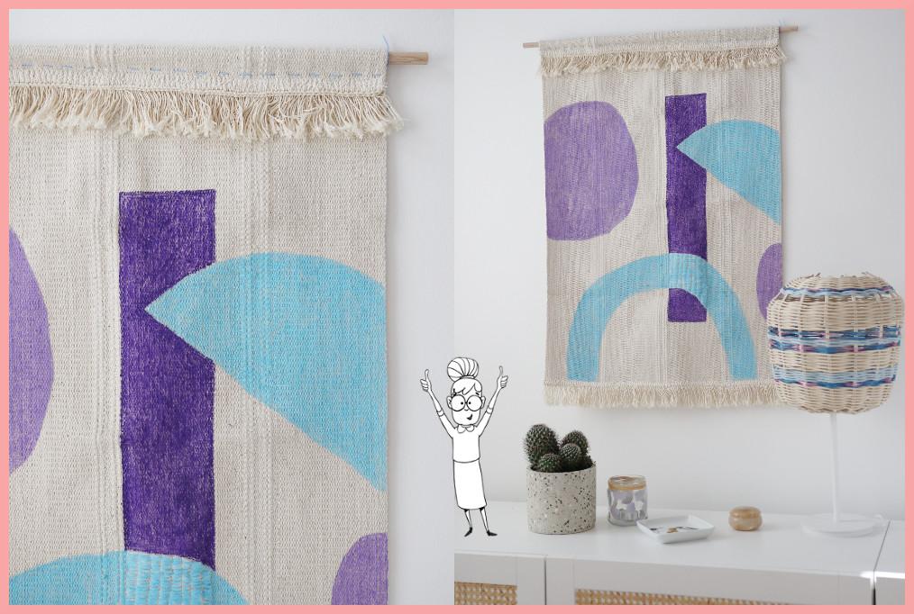 Wandteppich selbst gestalten mit geometrischen Mustern