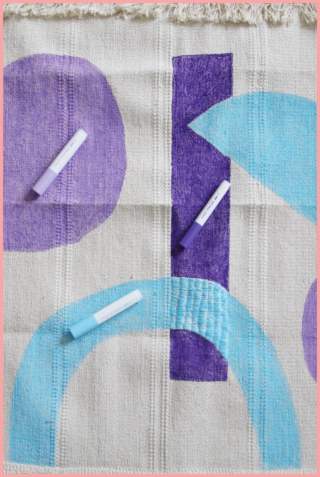Wandteppich selbst gestalten mit geometrischen Mustern - Farbauswahl