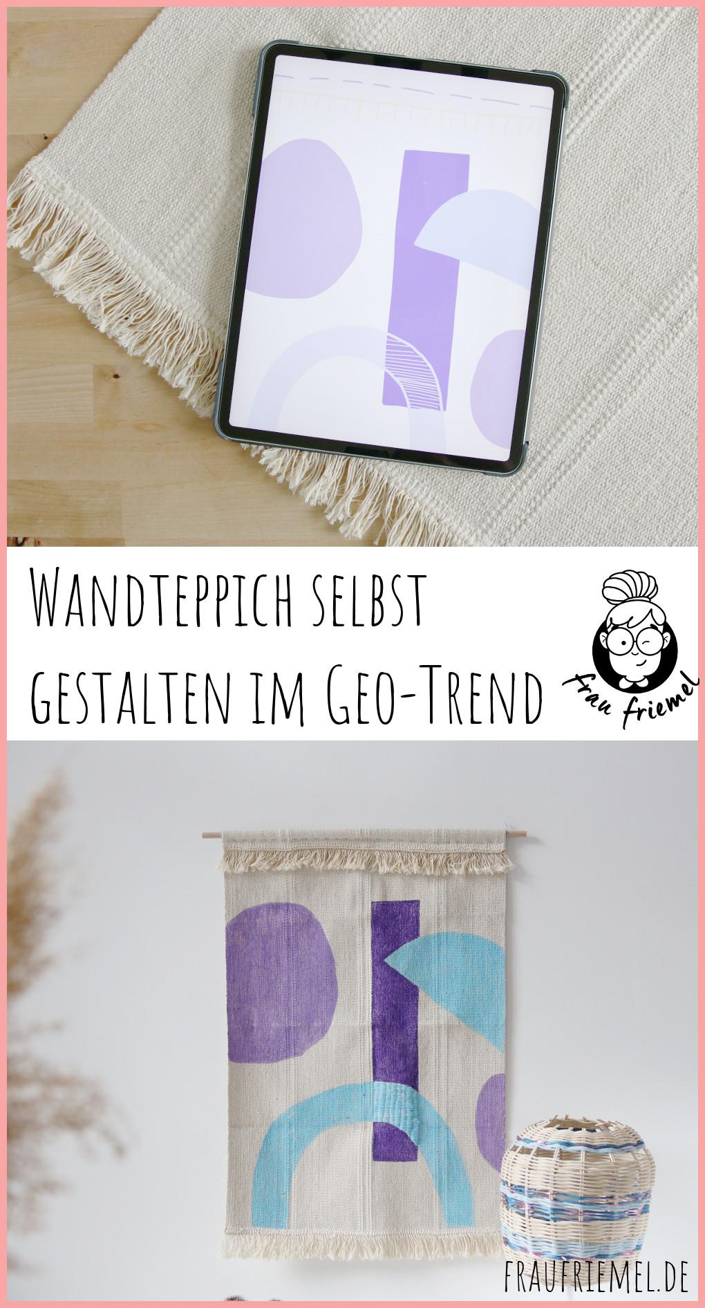 Wandteppich selbst gestalten mit geometrischen Mustern auf Pinterest merken