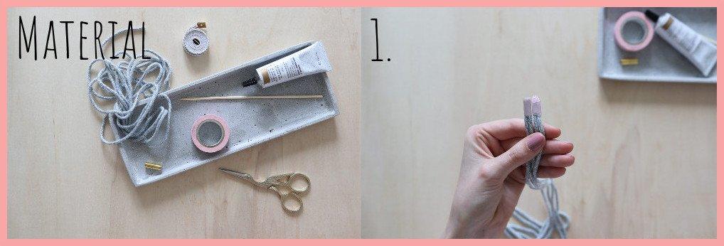 Kette selber machen - Version keltische Knoten - Material und Schritt 1