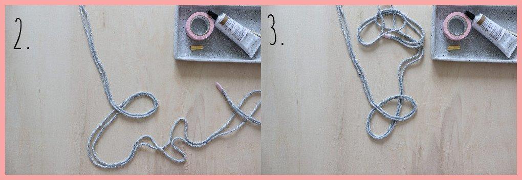 Kette selber machen - Version keltische Knoten - Schritt 2 und 3