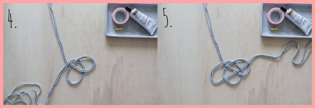 Kette selber machen - Version keltische Knoten - Schritt 4 und 5