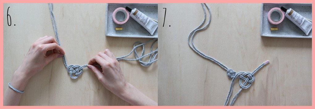Kette selber machen - Version keltische Knoten - Schritt 6 und 7