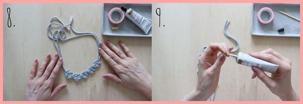 Kette selber machen - Version keltische Knoten - Schritt 8 und 9