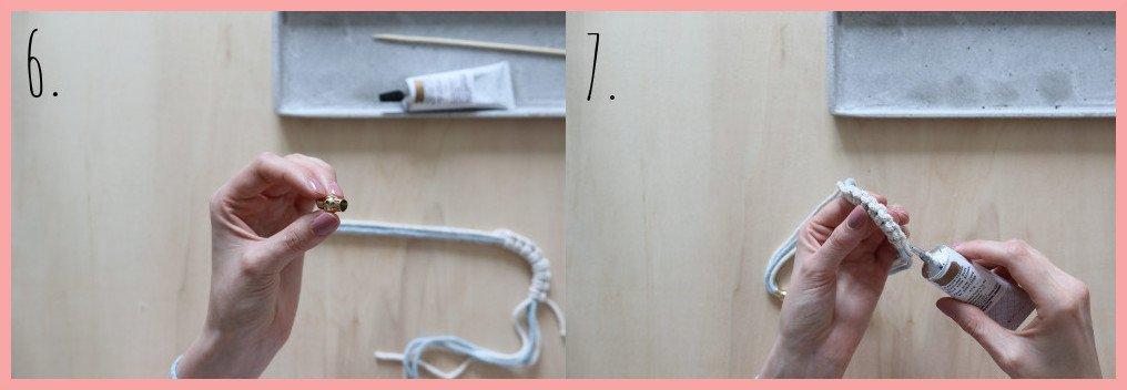 Einfache Kette selber machen - Schritt 6 und 7