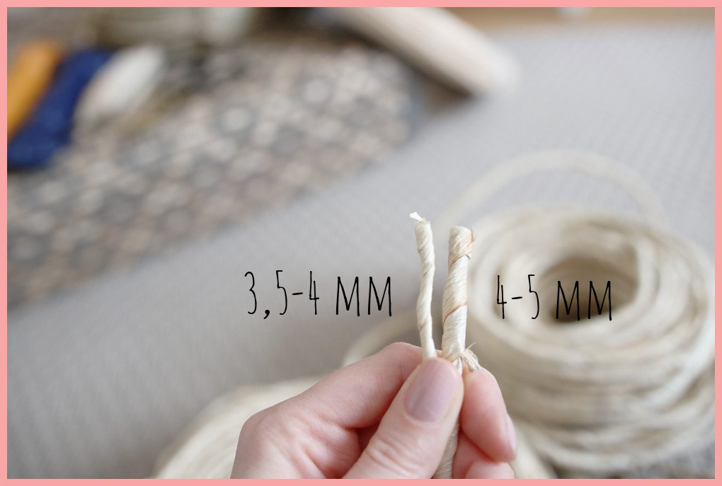 Korbflechten Material - Maischnur in unterschiedlichen Stärken