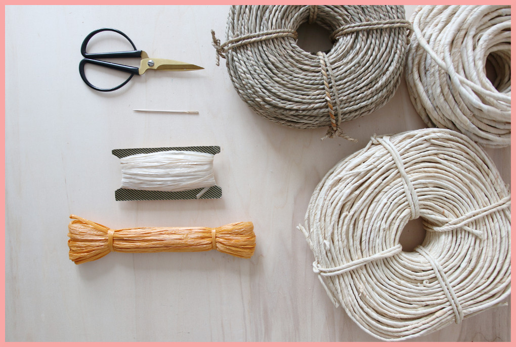 Korbflechten Material - weiteres Material fürs Körbe nähen