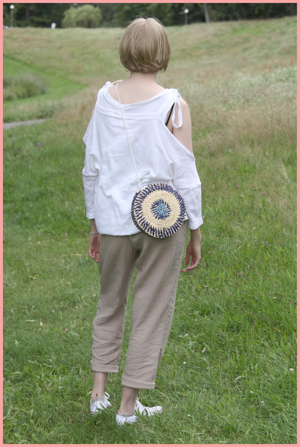 Tasche selber machen - Sommertasche aus Bast und Maisschnur