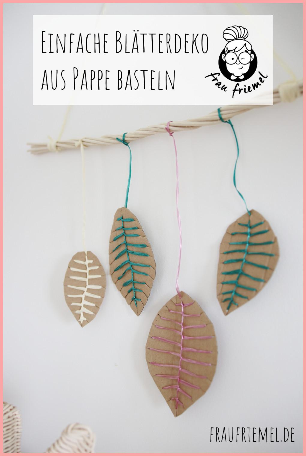 Herbstdeko basteln aus Pappe und Peddigrohr auf Pinterest merken