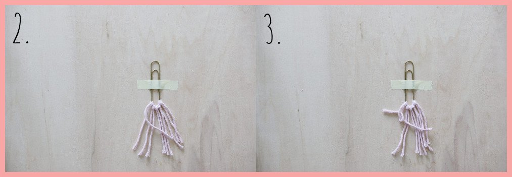 Makramee Lesezeichen Version Herz - Schritt 2-3