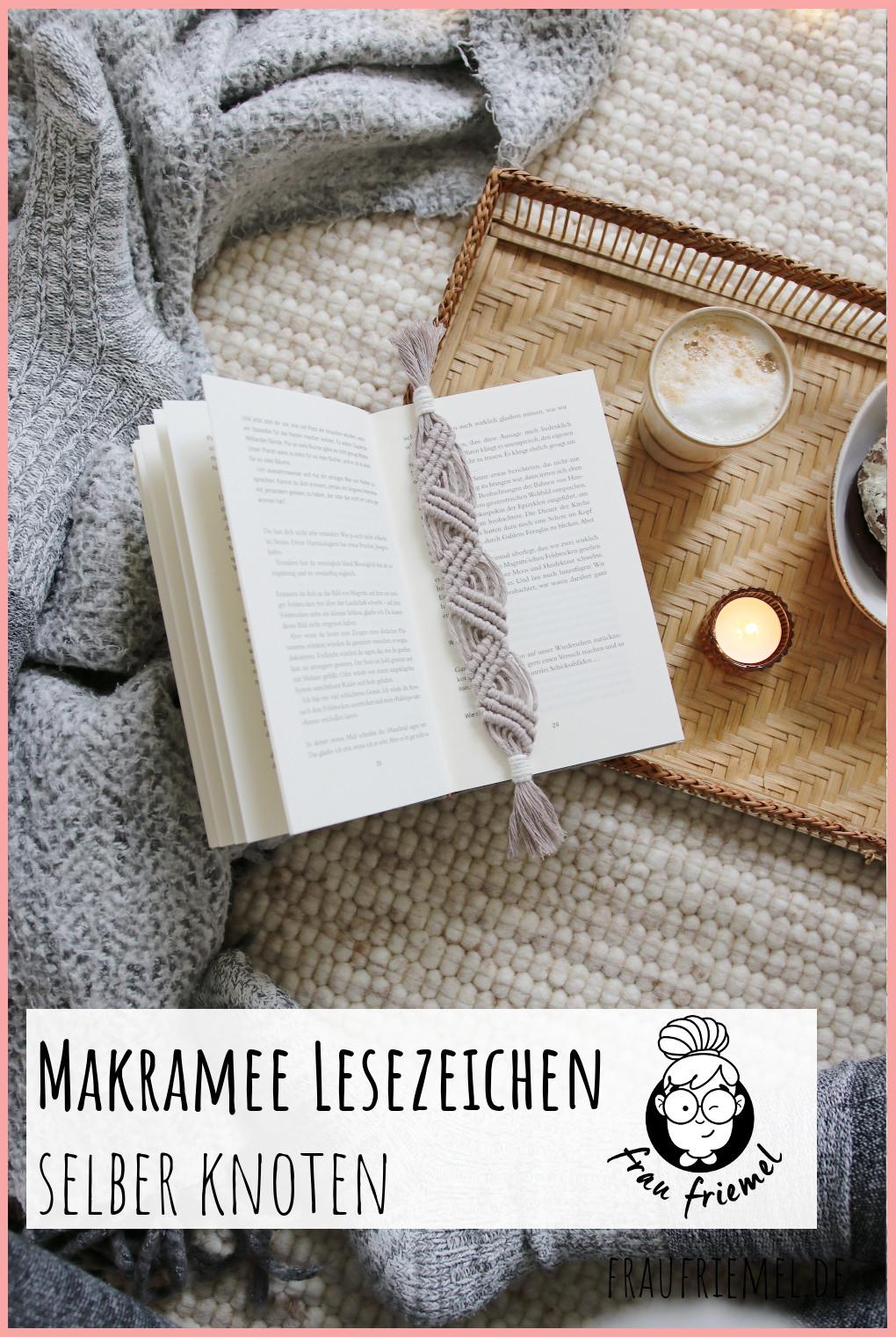 Makramee Lesezeichen auf Pinterest merken